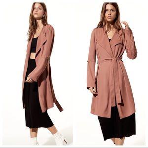 Aritzia Babaton Quincey flowy trench coat